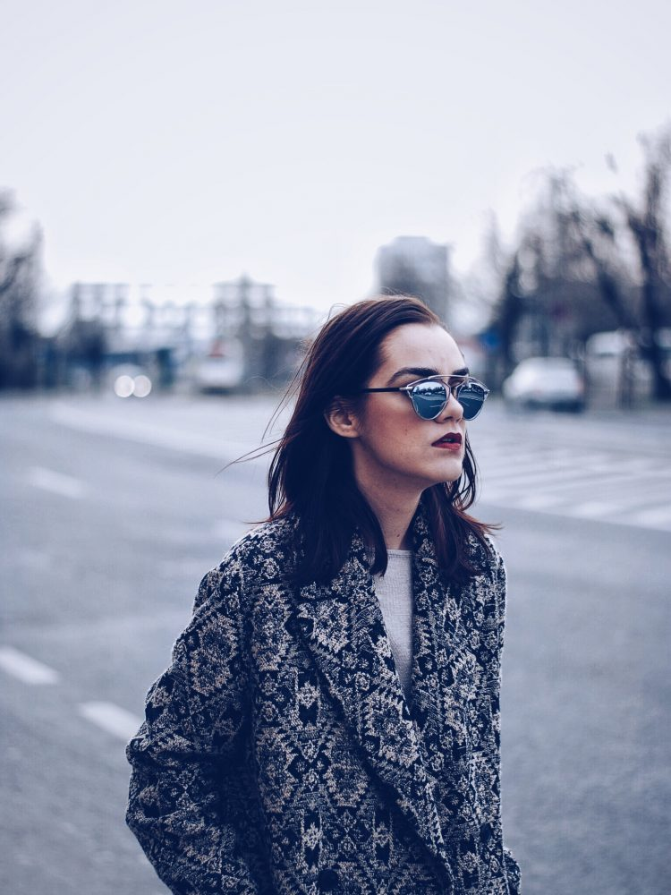 Camel outfit, Print coat, SoReal sunglasses by Andreea Birsan