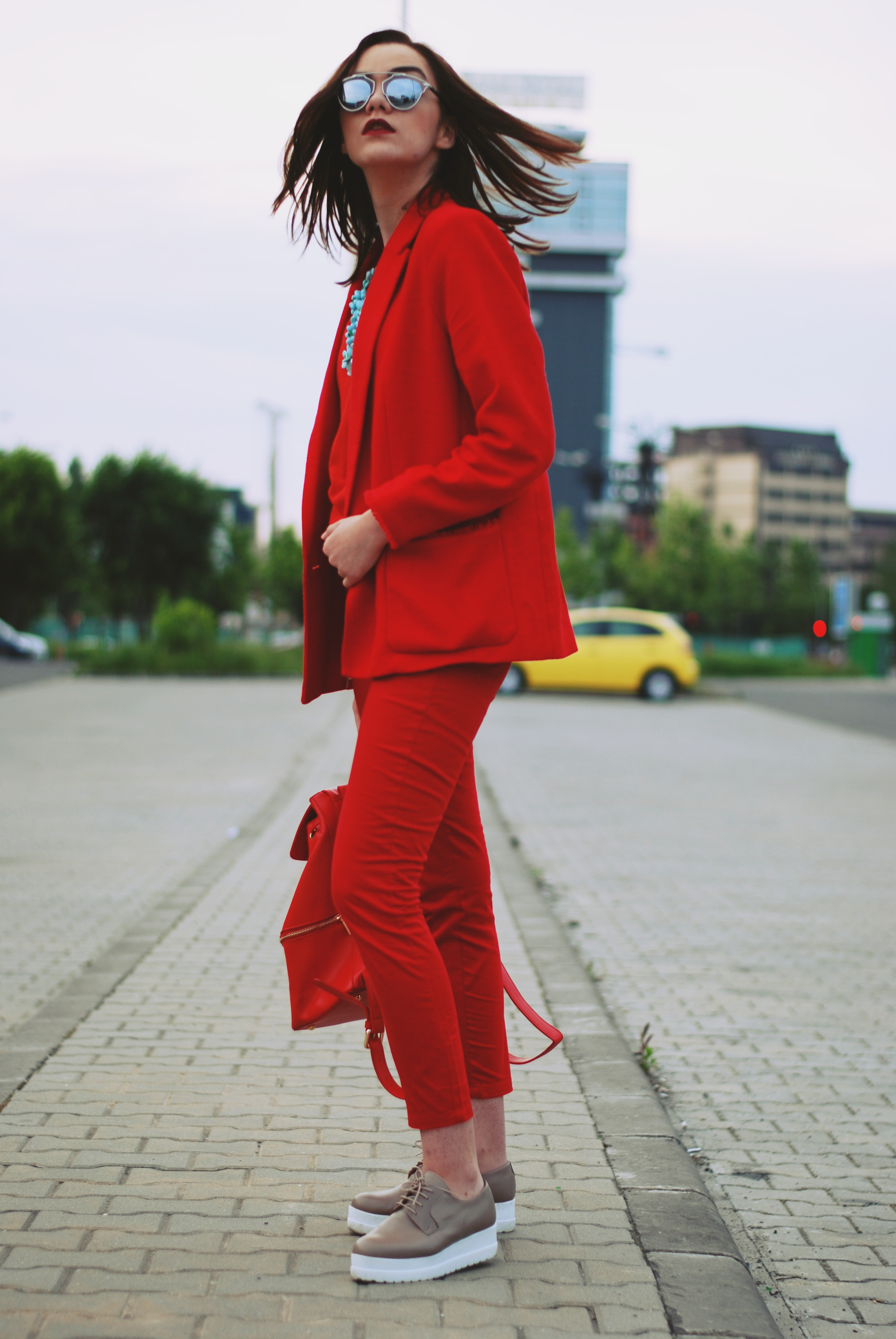 The urban red outfit • Couturezilla