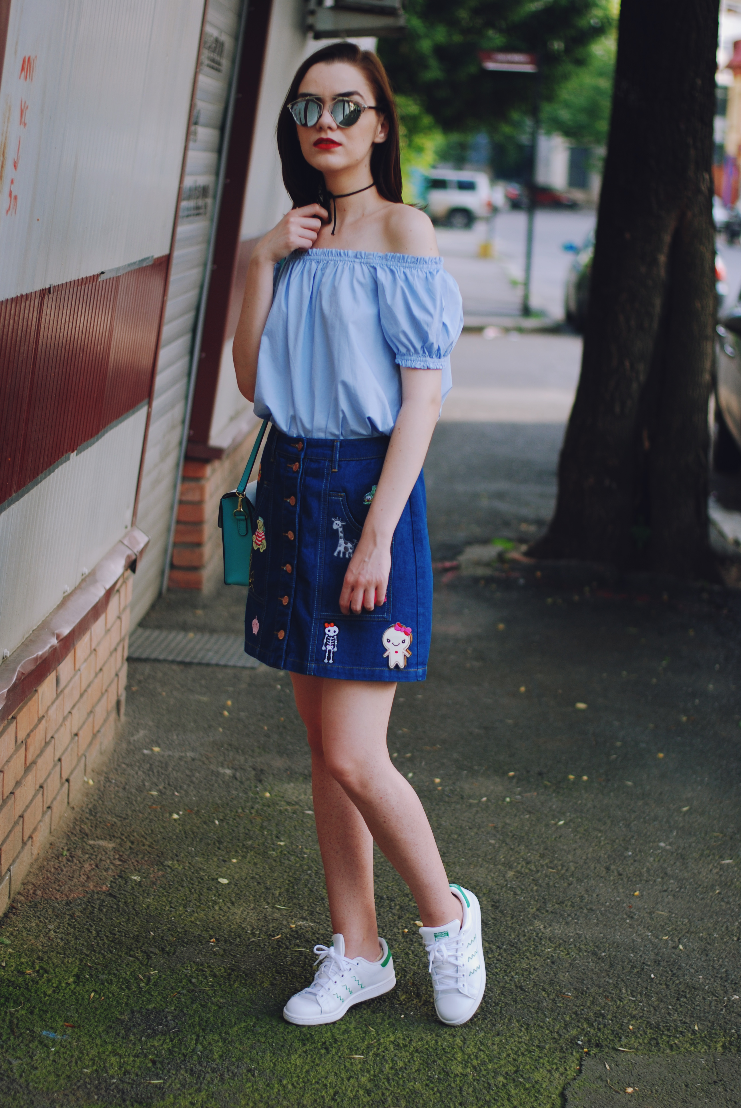 How to rock your patched denim skirt u2022 Couturezilla