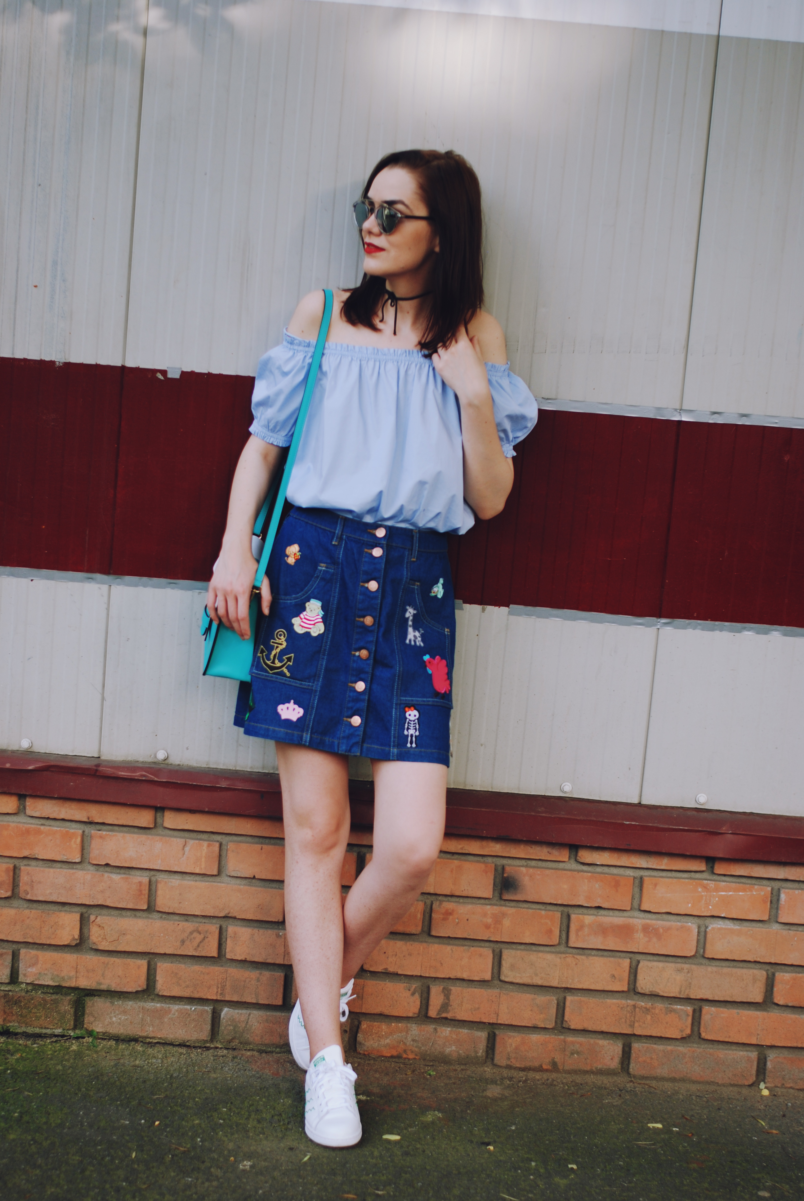 How to rock your patched denim skirt • Couturezilla