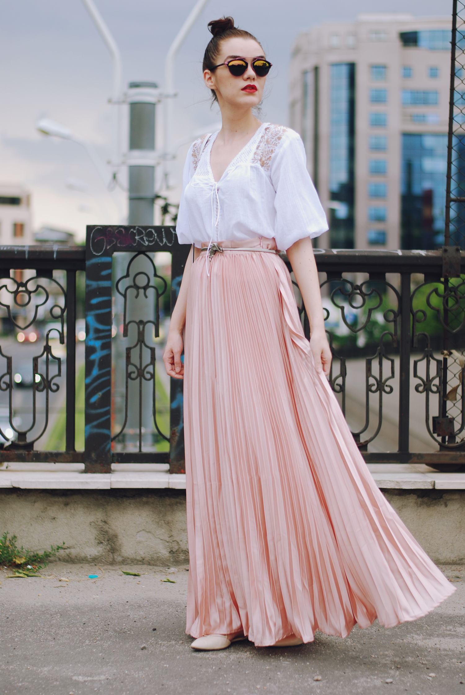 Pink maxi skirt crush • Couturezilla