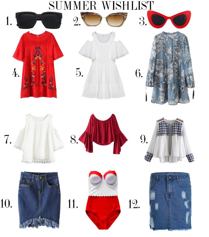 Summer outfit post, wishlist