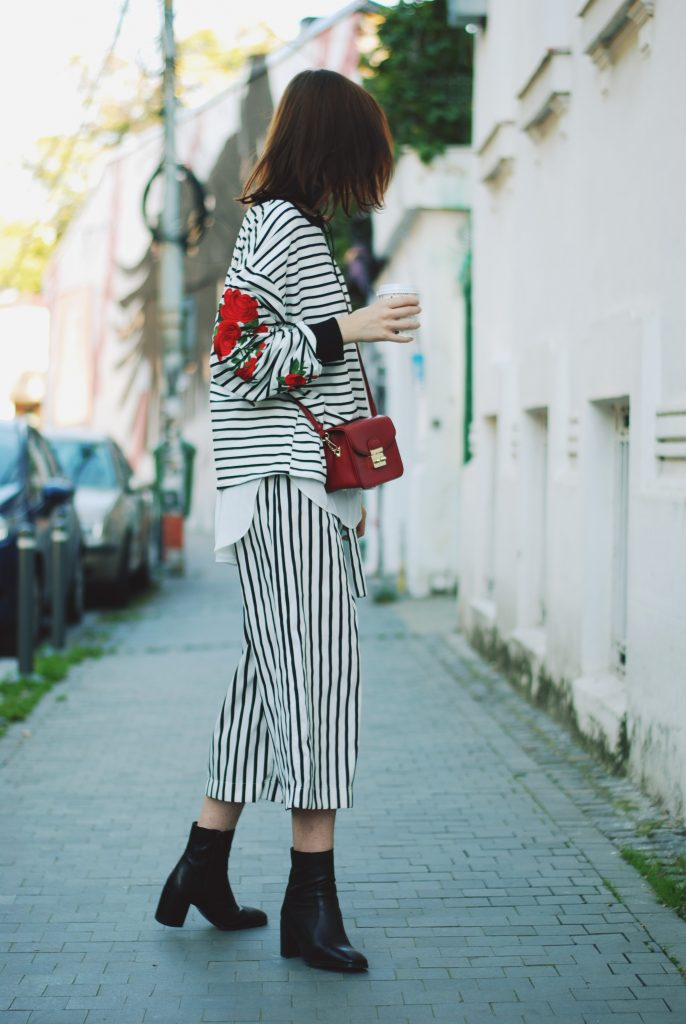Striped Sweater U0026 Culottes How To Take Your Basic Sweater To The Next Level U2022 Couturezilla