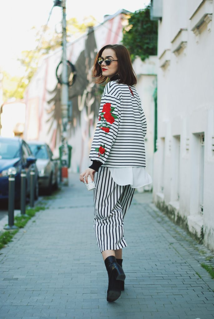 Striped Sweater Amp Culottes How To Take Your Basic Sweater