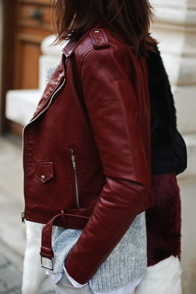 The 41$ burgundy leather jacket everyone is wearing • Couturezilla