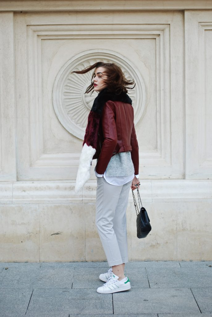 The 41 Burgundy Leather Jacket Everyone Is Wearing