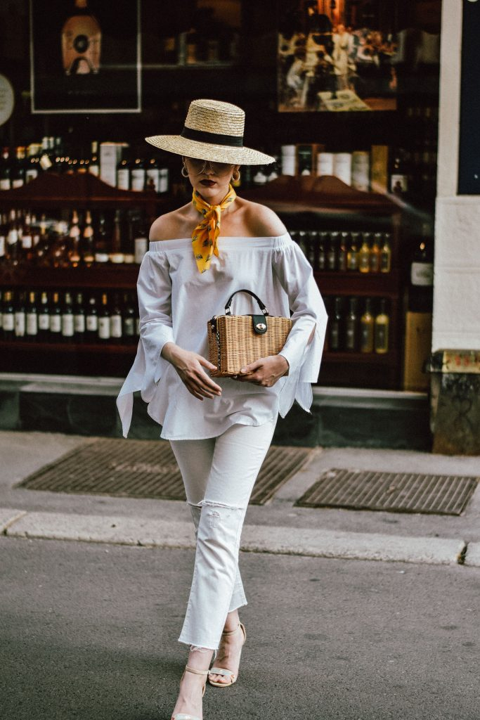 The Easy Parisian Inspired White Summer Outfit You Will