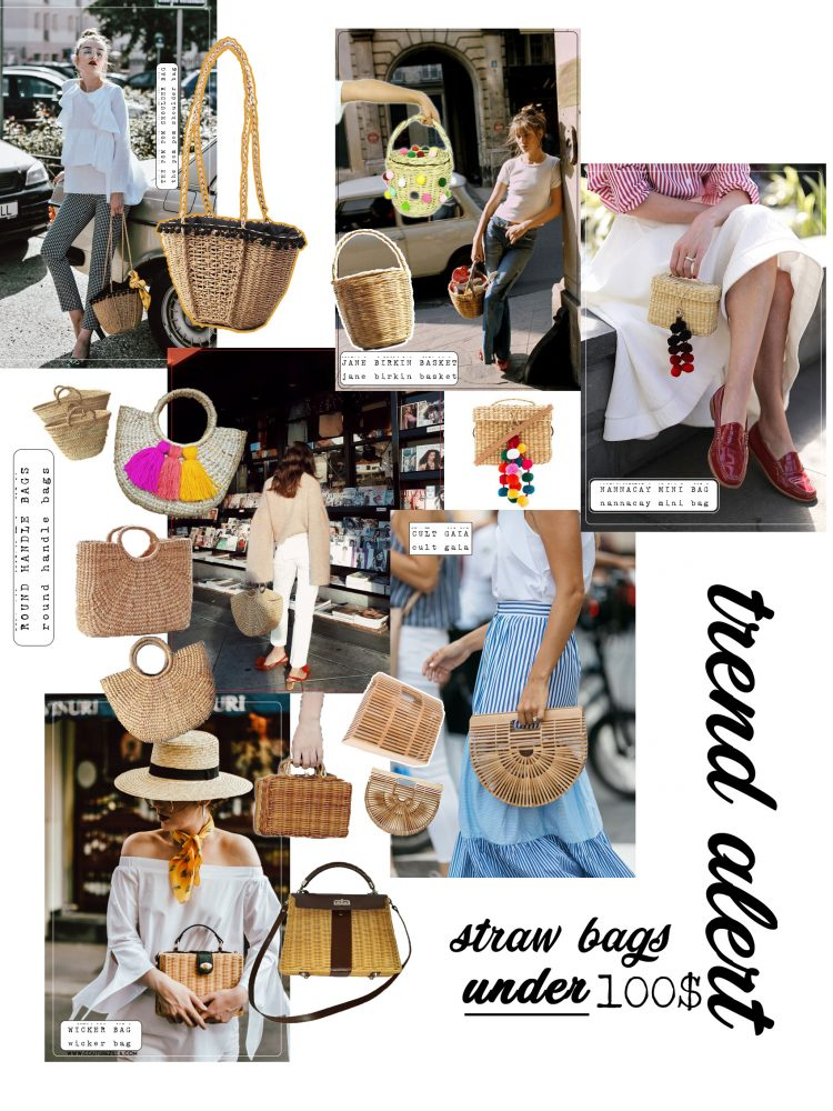 Woven summer bags, asos rafia bag, zara wicker bag, topshop straw bag, basket, nanna cay pom pom bag, micro bag for summer, colorful tassel bag, straw tote summer bag, the bag you've seen all over instagram, the popular summer bags, it bags of street style stars, fashionista, fashion blogger, uk fashion blogger, style blogger, basket bag, jane birkin basket, andreea birsan, couturezilla, where to find the best summer bags, french girl style, how to look parisian, how to wear the popular straw summer bags, colorful pom poms, round handle straw tote bag, wicker purse, square bamboo bag, cult gaia bags under 100$, trend alert, summer sales, most beautiful bags, unique, straw hat, gucci green pumps, gingham pants, high waist pants, white ruffle blouse, off shoulder white top, silk scarf, clear lens glasses trend, aviator glasses, fashionista, chic summer street style in europe, summer in europe, european summer outfits, ootd, outfit of the day, what to wear in europe, vacation, holiday, minimal street style for summer 2017, fashion trends 2017, summer fashion trends 2017, parisian