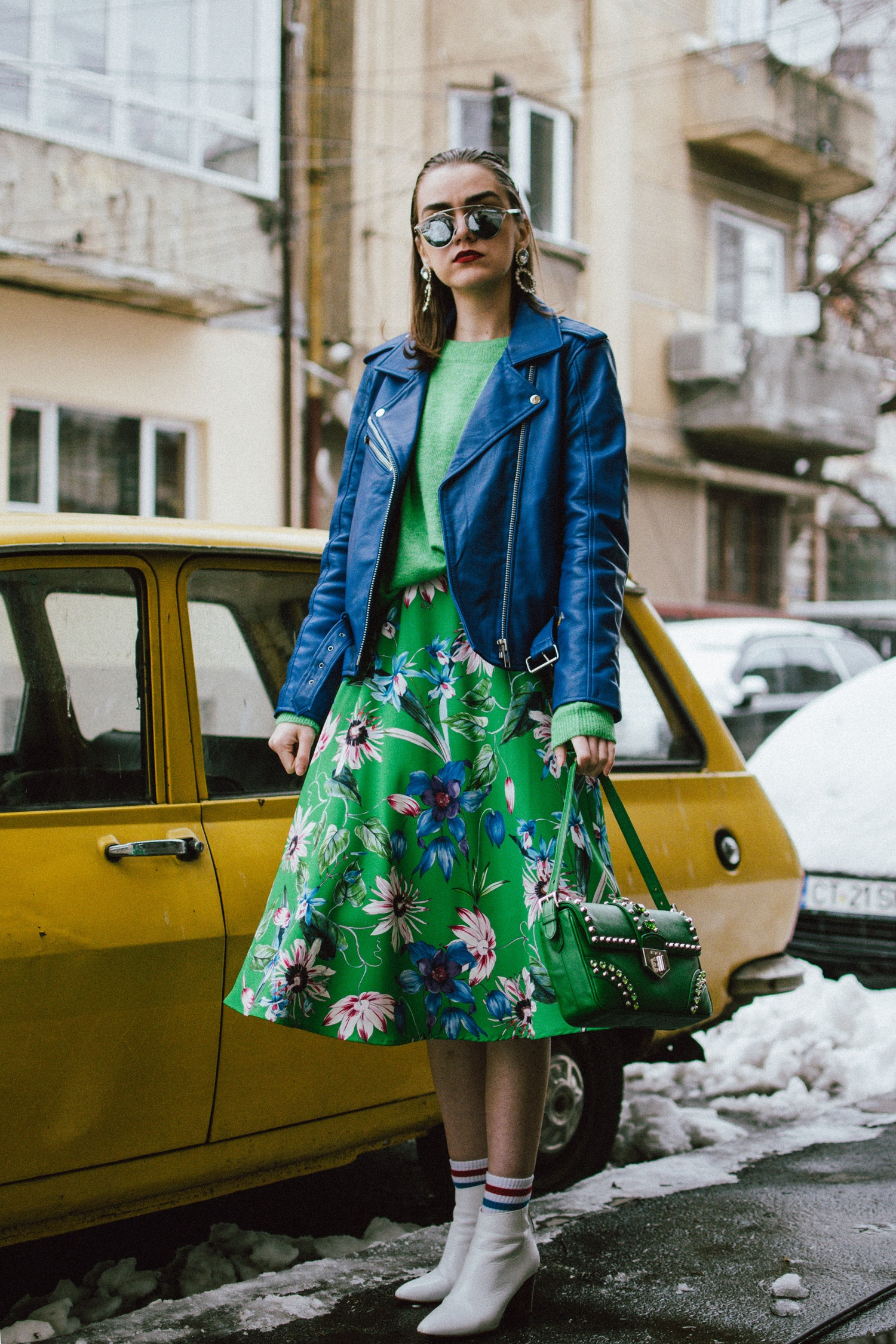 Fresh color combo to try this spring: green and blue ...