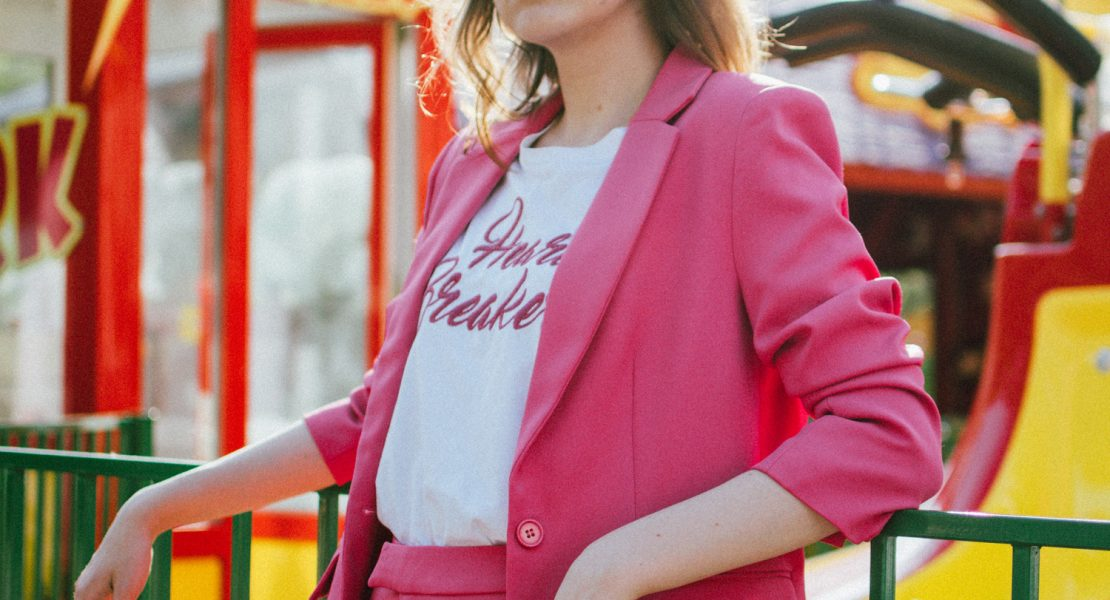 Zara pink suit, blazer, trousers, gucci pink loafers, t-shirt, mini bag, andreea birsan, couturezilla, cute spring outfit ideas 2018, pink blazer, pink trousers, pink suit co-ord, how to wear a pink suit, all pink outfit, na-kd outfit, na-kd promo code,nakd suit, how to wear pink like a pro, heart breaker t-shirt, white t-shirt, printed t-shirt, mango white t-shirt, the best white tees, gucci horsebit pink patent loafers, gucci classic pink loafers, gucci pink leather loafers, horsebit loafers, timeless loafers, colorblock leather mini bag, isla fontaine mini tote bag, square 90s rhinestone sunglasses, gucci inspired sunglasses, minnie mouse, photo shoot in the park, what to wear with a pink suit, what shoes to wear with a women's suit, office ready outfit, perfect work outfit, beach waves, pink suit, how to look Parisian chic, European summer street style inspiration for women 2017, pinterest chic outfit ideas for woman, summer outfit ideas, summer ootd inspiration, outfit of the day, ootd, fashion icon, style inspiration, fashionista, fashion inspiration, style inspo, what to wear in summer, how to look French, chic on a budget, zara outfit, mango, topshop, asos, river island, forever 21, urban outfitters, how to mix high end pieces with luxury ones, zara and Gucci,outfit alternatives for summer, tomboy chic, minimal outfit, tumblr girls photos, pictures, happy girl, women, smart casual outfits, the best outfit ideas 2017, what to wear when you don't feel inspired, summer in Europe, weekend attire, uniform, French women in summer, European outfit ideas 2017, minimal chic outfit, how to stand out, the best outfit ideas for summer, the sunglasses you have seen everywhere on Instagram, glasses, uk fashion blogger, united kingdom, uk fashion blog, fashion and travel blog, Europe, women with style, street style, summer fashion trends 2017, best fashion ideas, styling, fall fashion, fall outfit, fall ootd, fall perfect, transitional dressing, best transitional outfit ideas, how to wear statement earrings, dressing for autumn, autumn outfit, winter outfit ideas for work and school 2017
