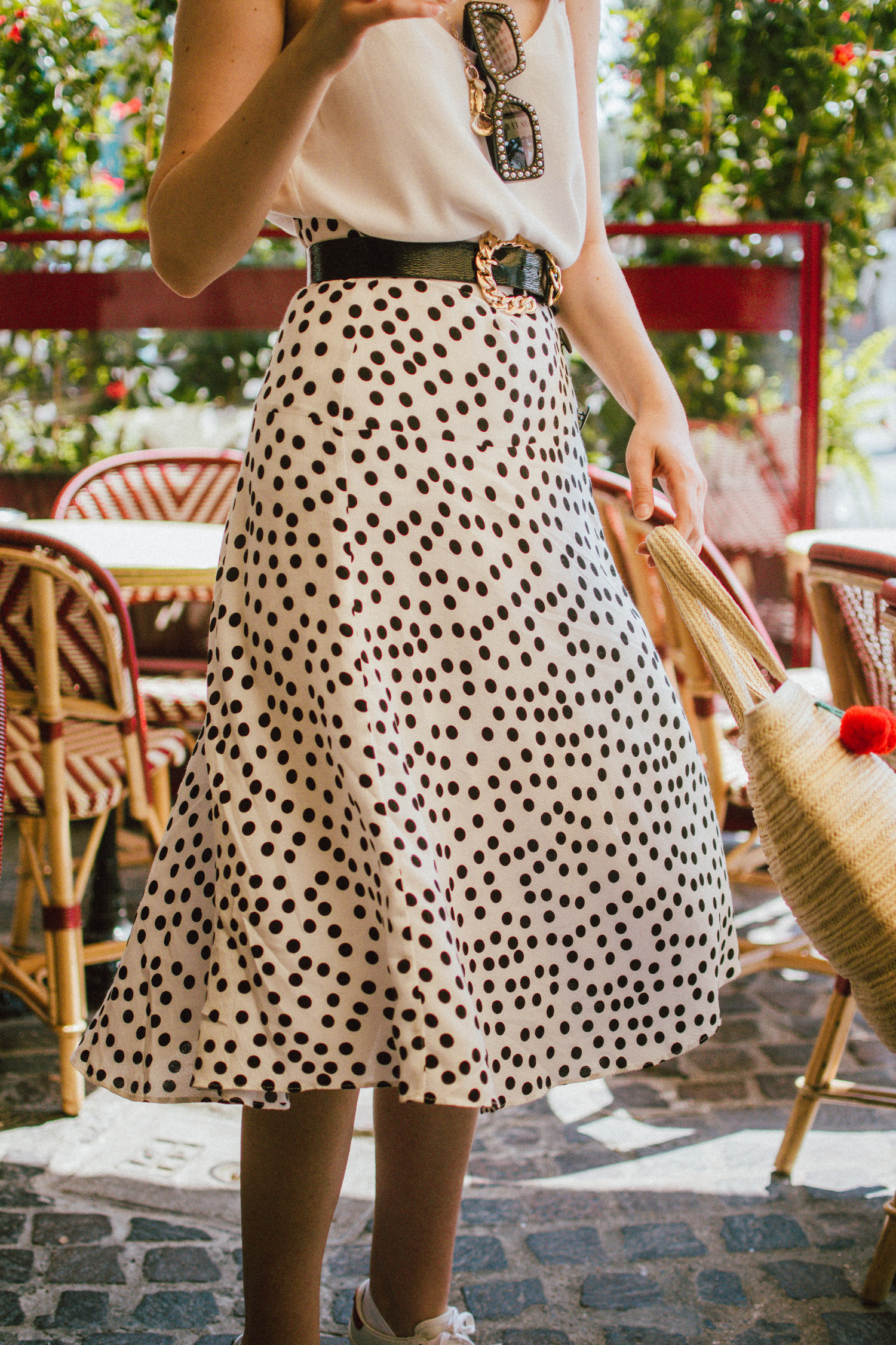 The Easy Breezy Way To Wear A Polka Dot Skirt Couturezilla