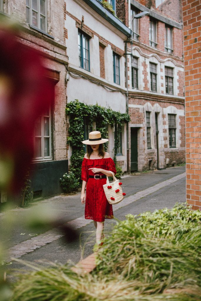 Zara red midi lace dress, ots dress, straw boater hat, red sequin T tommy hilfiger espadrilles, cherry straw bag, france, andreea birsan, couturezilla, cute summer outfit ideas 2018, off the shoulder lace, travel to lille, tourist outfit, summer in europe, red midi dress, clear lens aviator glasses, what to wear in summer, european summer, how to wear a lace dress in a casual way, boater hat, raffia bag with cherry pom poms, statement summer tote bag, espadrilles, geeky clear lens glasses trend, how to wear a lace dress during the day, how to wear a midi dress, how to look Parisian chic, European summer street style inspiration for women 2017, pinterest chic outfit ideas for woman, summer outfit ideas, summer ootd inspiration, outfit of the day, ootd, fashion icon, style inspiration, fashionista, fashion inspiration, style inspo, what to wear in summer, how to look French, chic on a budget, zara outfit, mango, topshop, asos, river island, forever 21, urban outfitters, how to mix high end pieces with luxury ones, zara and Gucci,outfit alternatives for summer, tomboy chic, minimal outfit, tumblr girls photos, pictures, happy girl, women, smart casual outfits, the best outfit ideas 2017, what to wear when you don't feel inspired, summer in Europe, weekend attire, uniform, French women in summer, European outfit ideas 2017, minimal chic outfit, how to stand out, the best outfit ideas for summer, the sunglasses you have seen everywhere on Instagram, glasses, uk fashion blogger, united kingdom, uk fashion blog, fashion and travel blog, Europe, women with style, street style, summer fashion trends 2017, best fashion ideas, styling, fall fashion, fall outfit, fall ootd, fall perfect, transitional dressing, best transitional outfit ideas, how to wear statement earrings, dressing for autumn, autumn outfit, winter outfit ideas for work and school 2017